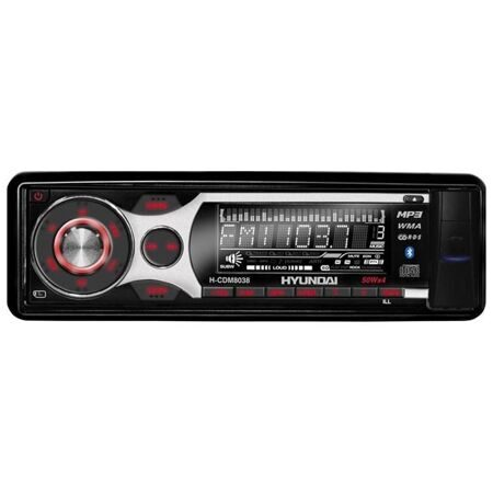 HYUNDAI (Хундай) H-CDM 8038 B/G cd,mp3,BlueTooth,+bluetooth гарнитура автомагнитола